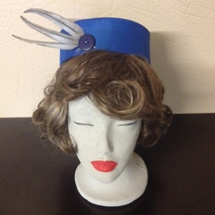 "Pillbox Hat - ""Blue Flight"""