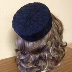 "Pillbox Hat - ""Black Lace"""
