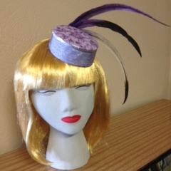 Pillbox Style Fascinator Mini Hat - 