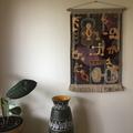 Modernist fabric wall hanging.