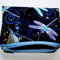 Small Coin Purse in Beautiful Dragonfly fabric