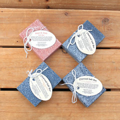 Salt Bar Soap with Pink Himalayan Salt and Oat's Milk ( 4x 100g each) -