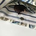 Boho linen tropical shoulder bag.  A usable one of a kind handmade treasure.