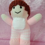 Hand Knitted Doll - Baby Girl Doll
