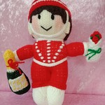 Hand Knitted Doll - Bellboy