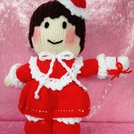 Hand Knitted Doll - Miss Valentine