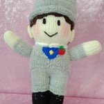 Hand Knitted Doll - Bridegroom
