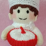 Hand Knitted Doll - Charles the Chef