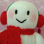Hand Knitted Doll - Chilly the Snowman