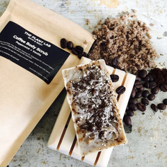 Coffee Body Scrub & Coffee Soap Gift. Natural Vegan Skincare. Men's Skincare