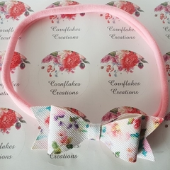 Pink Floral Baby Headband FREE POSTAGE