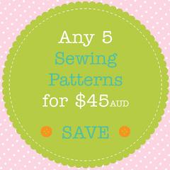 Sewing Pattern Bundle - Save When You Buy 5 PDF Sewing Patterns