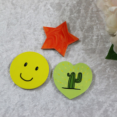 Set of 3 Handmade Fridge Magnets