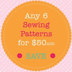 Sewing Pattern Bundle - Save When You Buy 6 PDF Sewing Patterns