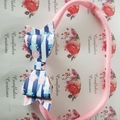 Navy Stripe and Pink Floral Headband FREE POSTAGE