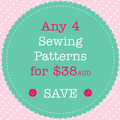 Sewing Pattern Bundle - Save When You Buy 4 PDF Sewing Patterns