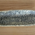 Long Pottery embossed dish