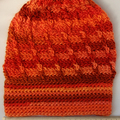 Hat loose back 100% acrylic autumn tones
