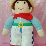 Large Hand Knitted Doll - Jesse the Cowboy