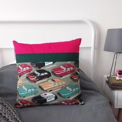 Pocket Pillow | Perfect for PJs, Books and Technology | Retro Cars