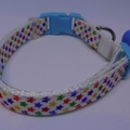 Cat Collar - Colourful Stars on White