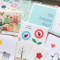 SURPRISE Box of cards blank, birthday, gift tags.