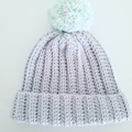 Chevron Blanket with matching beanie with pompom