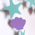 Starfish, Shell garland, Under the Sea, Mermaid birthday party banner.