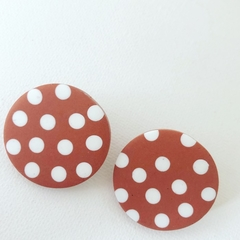 "PoLKA DoT Collection  ""Rust"" - SPOTTY Maxi Disc Studs"