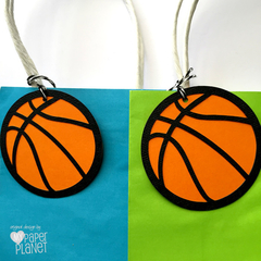 Basketball Gift Tags. Birthday party gifts, favour tags. Sporty birthday.