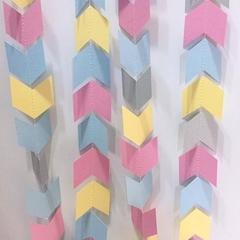 Pastel Chevron garland. Arrow head banner. Baby shower, Birthday party bunting.