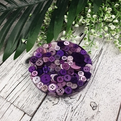 Mug Coasters - PURPLE Buttons For Drink or as a Paperweight - SINGLE- Resin