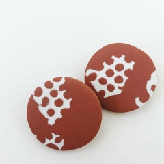 "PoLKA DoT Collection  ""Rust"" - NEGATIVE Maxi Disc Studs"