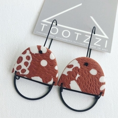 "PoLKA DoT Collection  ""Rust"" - OFFCUTS Statement Dangles (B)"