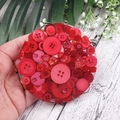 Mug Coasters - RED Buttons For Drink or as a Paperweight - SINGLE- Resin