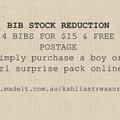 Boys Bib surprise pack