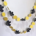Honey Bee garland. Bumblebee, mummy to be, what will it bee. Baby shower.