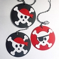 Pirate Skull gift tags. Pirate party, birthday favours, gift wrapping.