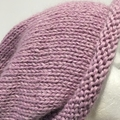 Knitted pink slouchy beanie, mens pink beanie, ladies pink slouchy pom beanie