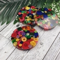 Mug Coasters - MULTI Buttons For Drink or as a Paperweight - SINGLE- Resin