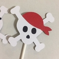 Pirate Skull Cupcake Toppers. Pirate party, birthday party favours, cake toppers