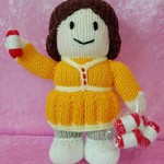 Hand Knitted Doll - Winifred the Knitter