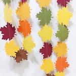 Autumn Leaf Garland. Thanksgiving, Fall back drop. Baby shower, birthday party.