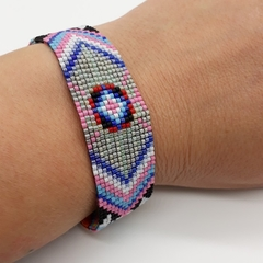 Pattern Beaded Bracelet Bright Colour