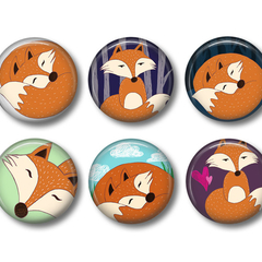 Mr Fox fridge magnets