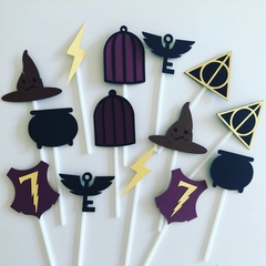 Harry Potter Party - cake - cupcake toppers - Qty 14.  Free Post