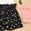 High Waist Skirt - Black - Cats - Kitty - Retro - Sizes 1-5
