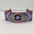 Pattern Beaded Bracelet Bright Colour