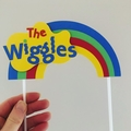 The wiggles - birthday - cake topper - rainbow