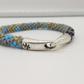 Kumihimo Bead  Bracelet Black Grey Gold Blue Silver Rain Storm